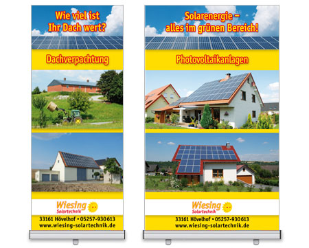 Roll-Up Display Wiesing Solartechnik