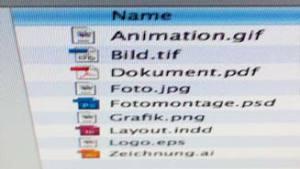 Dateiformate PDF EPS INDD TIF PNG GIF AI