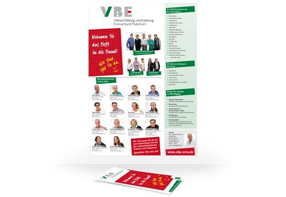 Flyer und Plakat VBE Paderborn