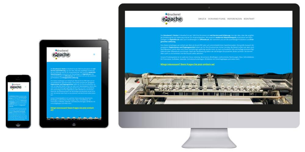 Homepage Druckerei Pache in Hövelhof