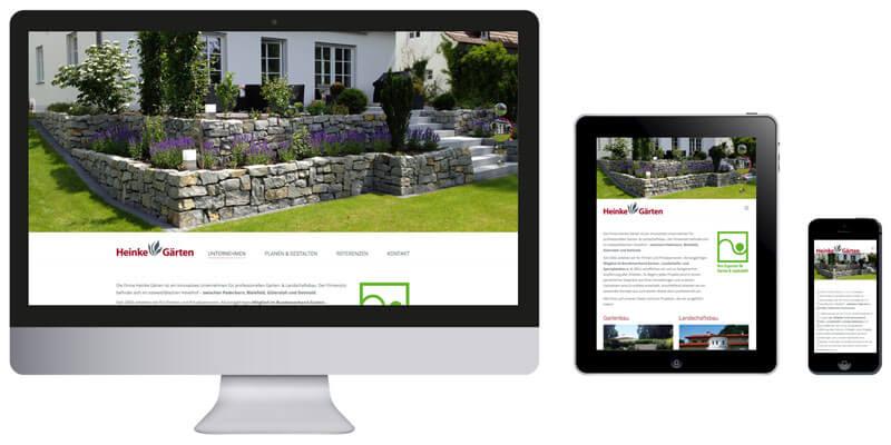 Homepage Heinke Gartenbau in Hövelhof