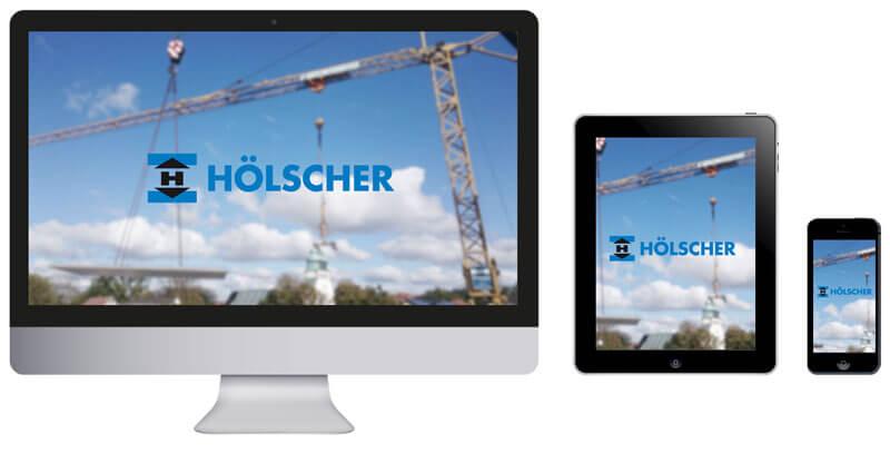 Homepage Bauunternhemen Hölscher in Hövelhof