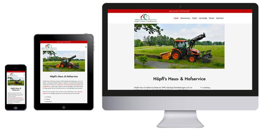 Homepage Höpfl's Haus- & Hofservice für Hövelhof und Umgebung