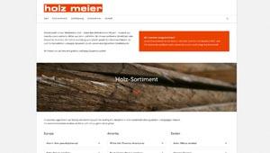 Homepage Holz Meier GmbH