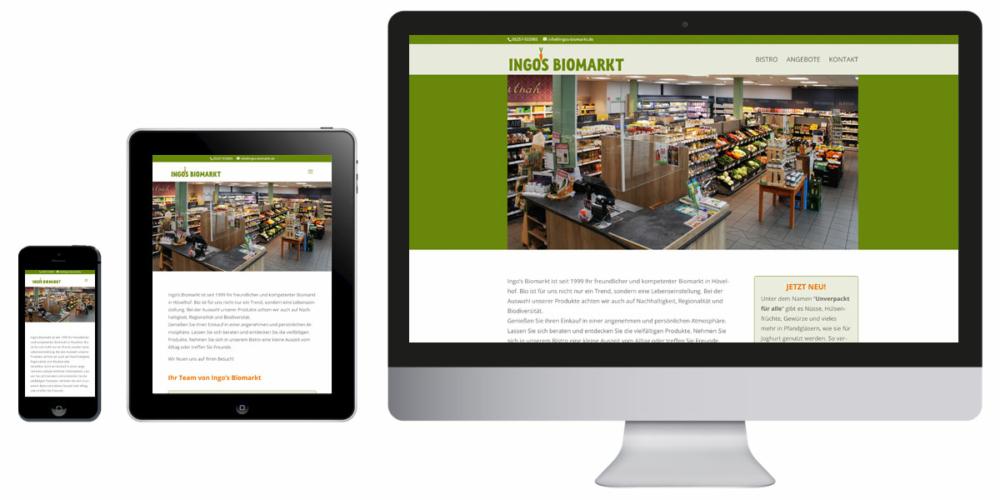 Homepage Ingo's Biomarkt Hövelhof