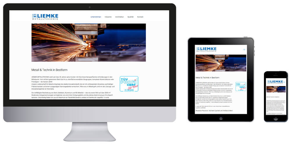 Homepage Liemke Metalltechnik