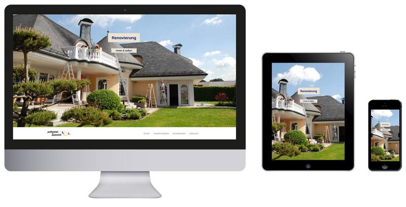Homepage Malermeister Pollmeier+Weinrich in Hövelhof