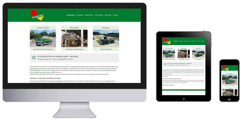 Homepage Containerdienst Schlotmann