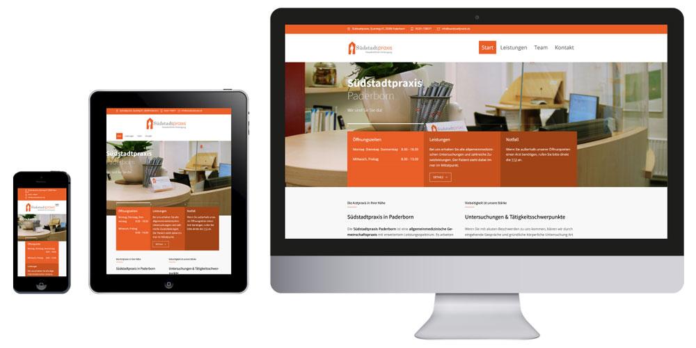 Homepage Südstadtpraxis Paderborn