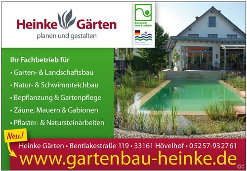 Inserat Heinke Gartenbau in Hövelhof