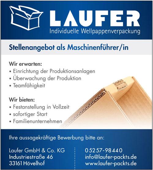 Inserat Laufer Verpackungen in Hövelhof