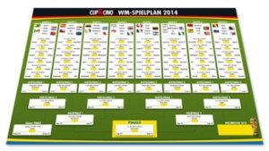 Plakat CUP&CINO WM Spielplan
