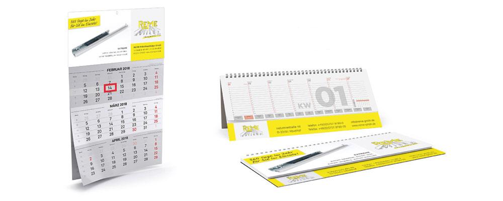 Tischplaner und 3-Monatskalender