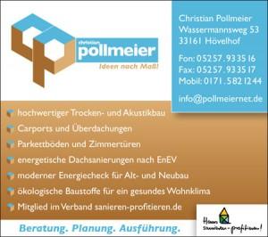 Inserat Christian Pollmeier in Hövelhof