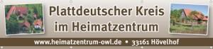 Banner Heimatzentrum OWL in Hövelhof