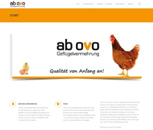 Homepage ab ovo Geflügelvermehrug GmbH
