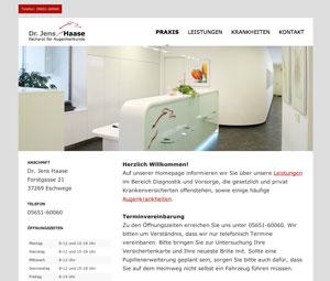 Homepage Augenarzt Dr. Haase