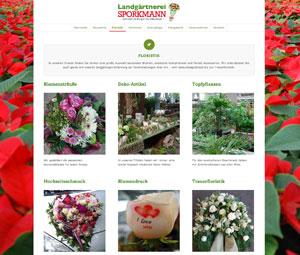 Homepage Landgärtnerei Sporkmann