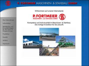 Internetauftritt Fortmeier Stahlbau in Sennelager