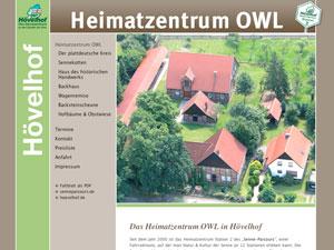 Internetauftritt Heimatzentrum OWL in Hövelhof