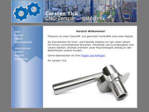 Internetauftritt Tick Zerspanungstechnik in Hövelhof