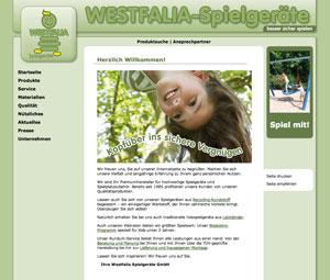 Internetauftritt Westfalia Spielgeräte in Hövelhof